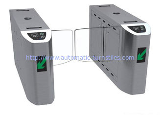 Cina Sidik Jari SS Access Control Turnstiles, Mechanical Anti Pinch Automatic Turnstile Gate pemasok