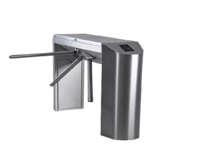 Mechanical 304 / 316 Stainless Steel Turnstile Three Roller Gate For Railway