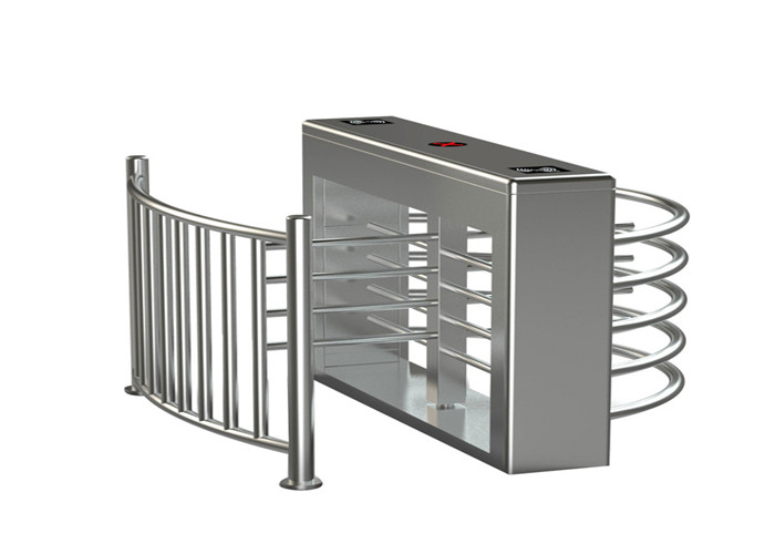 Semi Automatic 304 stainless steel entrance turnstile security gate heavy duty